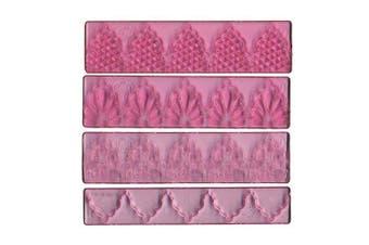 (Lace Set 1) - FMM Textured Lace Set 1, Includes 3 lace designs plus 1 cutter