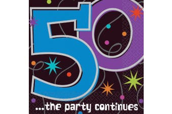 Amscan International The Party Continues Party Napkins 50, Pack of 16