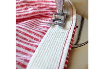 (50 Yard, White) - Barcelonetta | 50 Yard X 2.5cm Inch | Sewing Elastic | Elastic Band Spool | Knit Roll, Stretch, Craft Elastan | Made in USA (White)