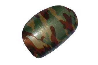 Chix Nails Nail Wraps Brown Green Camouflage Army Designer Fingers Toes Vinyl Foils