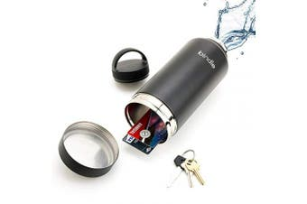 (710ml, Black) - 710ml Black Bindle Bottle | Stainless Steel Double Walled & Vacuum Insulated Water Bottle with Storage/Stash Compartment | Drinks Stay Cold for 24 Hours, Hot for 12.