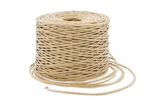 Bright Creations Bind Wire Twine for Flowers, Crafts, and Gift Wrapping, Beige, 26 Gauge, 250m