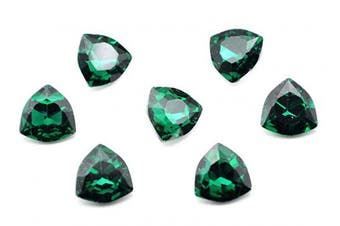 (12mm, green) - Catotrem Clear Crystal Rhinestone Fat Triangle Point Back Fancy Diamond Silver Plated for Jewellery Making Pendant Wedding Dress(12-Green)