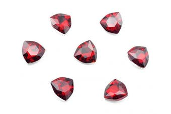 (12mm, red) - Catotrem Clear Crystal Rhinestone Fat Triangle Point Back Fancy Diamond Silver Plated for Jewellery Making Pendant Wedding Dress(12-Red)
