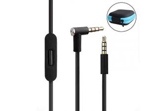(Black) - Lektuen Replacement Audio Cable Cord Beats Cord Replacement with Inline Mic and Volume Control for Beats by Dr Dre Headphones Solo/Studio/Pro/Detox/Wireless/Mixr/Executive/Pill (Black+Storage Case)