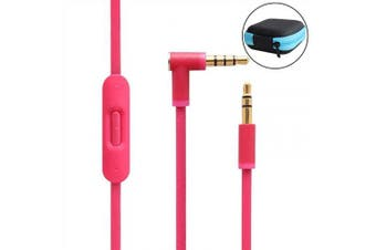 (Pink) - Lektuen Replacement Audio Cable Cord Beats Cord Replacement with Inline Mic and Volume Control for Beats by Dr Dre Headphones Solo/Studio/Pro/Detox/Wireless/Mixr/Executive/Pill (Pink+Storage Case)