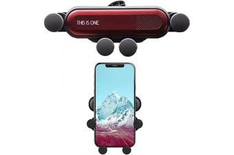 (red) - Car Phone Holder,Vent Phone Holder for Car, Compact and Practical Non-Slip Phone Holder ,Anti-Shake Easy to use Car Mount with Most Smartphones(red)