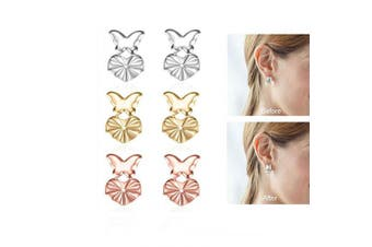 3 Pairs Original Magic Earring Lifters for Women Adjustable Earring Backs Secure Ear Lobe Support Patches Earring Lifts - Butterfly Style