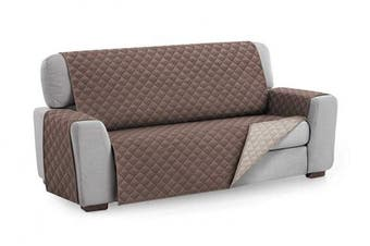 (2 Seater, Brown) - Textilhome - Sofa Cover MALU, Size 2 Seater -REVERSIBLE Padded Sofa Protector. Colour Brown