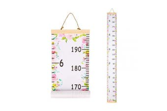 (Floral) - Basumee Height Chart for Kids Floral Wall Ruler Growth Chart Wood and Canvas Wall Decals 20x200 cm