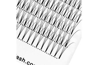 (3D-D Curl, 8mm) - Russian Lashes Volume Premade Fans 3D 0.07 D Curl 8mm Short Stem Russian Volume Eyelash Extension