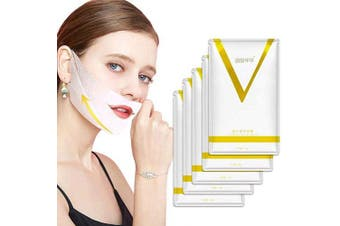 5 Pcs V Line Face Lift and Double Chin Reducer Intense Lifting Layer Mask, Lifting Patch for Chin Up & V Line, Double Chin Mask-V Lifting Chin Mask-Chin Up Mask
