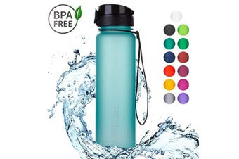 "(1000ml, 05 Ocean Blue | Softtouch) - 720°DGREE Water Bottle ""uberBottle"" +Fruit-Infuser - 350ml, 500ml, 650ml, 1L - BPA-Free Tritan, Leakproof, Reusable - Sports, Drinking Bottle for Gym, Fitness, Kids, Fitness, Cycling, School & Office"