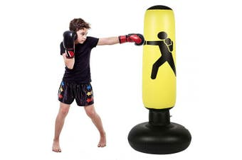 Fitness Punching Bag for Kids, Heavy Punching Bag Inflatable Punching Tower Bag Freestanding Children Fitness Play Adults De-Stress Boxing Target Bag Over 1.5m