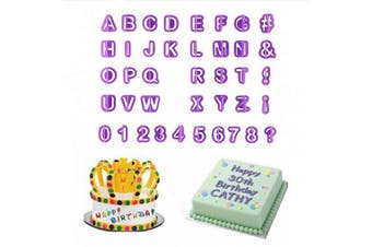 40 Pcs Alphabets Letters Fondant Cookie Mould Cutter Number Character Cake Decorating Set DIY Plastic Symbol Baking Sugar Mould