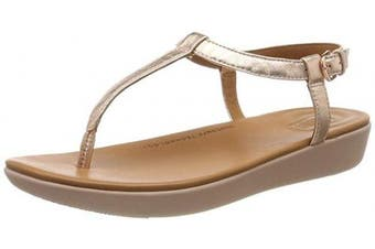 (8 UK, Pink (Rose Gold 323)) - Fitflop Women's Tia Thong Open Toe Sandals