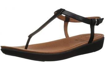 (7 UK, Black (Black 001)) - Fitflop Women's Tia Thong Open Toe Sandals