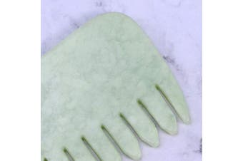 Artibetter Jade gua sha Scraping Massage Tool Comb Shape for SPA Acupuncture Therapy Trigger