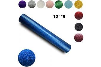 (30cm ×1.5m, Blue) - Glitter Heat Transfer Vinyl 30cm by 1.5m Rolls (Blue, 30cm ×1.5m)