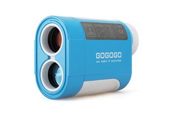 (900 Yard) - Gogogo Sport 650/900Yard Golf Rangefinder, 6X Magnification Laser Range Finder, with Pinsensor - Flag-Lock - Support Vibration - Slope Calculation- High-Precision Scan - Include Battery CR2