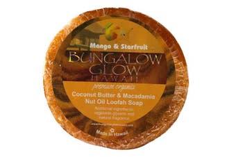 (Mango Starfruit) - Bubble Shack Hawaii Bungalow Glow Coco Loofah Soap (Mango Starfruit)
