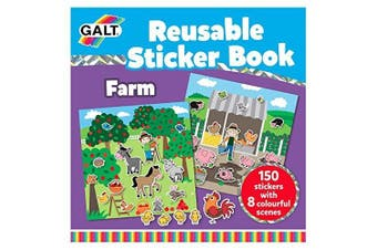 Galt Reusable Sticker Book Farm Animals (Over 150 Stickers!)