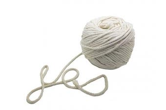150m Natural Cotton Macrame Rope - 1/8 Inch or 4mm Diameter Knitting Cord