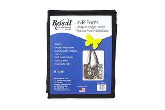 Bosal R-Form Single Sided Fusible 1 Yard Foam Stabiliser Black