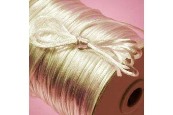 (Ivory) - Ben Collection 2mm X 100 Yard Rattail Satin Nylon Trim Cord Chinese Knot (Ivory)