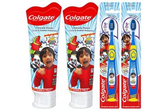 (Toothpaste and Toothbrush Set) - Colgate Kids Toothpaste and Toothbrush Set, Ryan's World