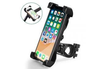(Black) - CHEREEKI Bike Phone Holder, Universal Bicycle Phone Handlebar Mount with 360 ° Rotation for iPhone X, 8,7,6, Samsung, Huawei and Other 11cm - 18cm smartphones (Black)