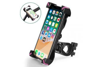 (Pink) - CHEREEKI Bike Phone Holder, Universal Bicycle Phone Handlebar Mount with 360 ° Rotation for iPhone X, 8,7,6, Samsung, Huawei and Other 11cm - 18cm Smartphones (Pink)