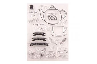 Cup of Tea Friendship Birthday Flowers Cards Rubber Clear Stamp/Seal Scrapbook/Photo Decorative Card Making Clear Stamp