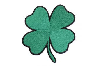 Ireland Heritage Luck of The Irish Four Leaf Clover Shamrock - 10cm Iron-on Patch