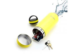 (710ml, Lemonade Yellow) - 710ml Lemonade Yellow Bindle Bottle | Stainless Steel Double Walled & Vacuum Insulated Water Bottle with Storage/Stash Compartment | Drinks Stay Cold for 24 Hours, Hot for 12