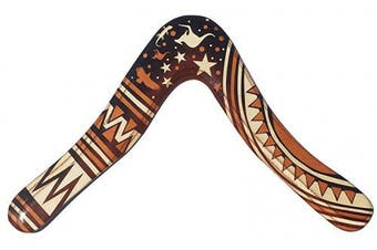 Aussie Fever Wooden Boomerang - Decorated Australian Boomerangs, Made in Australia!