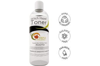 Pure Witch Hazel Toner for Face and Body Alcohol Free Therapeutic With Aloe Vera and Lavender Essential Oil Anti-Ageing Natural Skin Care for Women and Men Deep Clean to Minimise Pores For Smooth Skin