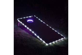 (WHITE-WHITE) - BLINNGO Cornhole Ring Lights and Cornhole Edge Lights, LED Cornhole Lights fit for Standard Cornhole Boards and Cornhole Bags