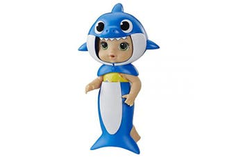 Baby Alive, Baby Shark Brown Hair Doll, with Tail and Hood, Inspired by Hit Song and Dance, Waterplay Toy for Kids Ages . Old and Up ()