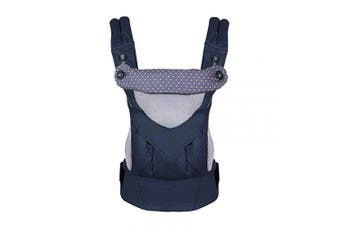(Navy) - LUOLUO 4-in-1 Carrier Front and Back Adjustable Baby Carrier Breathable Backpack for Infant Newborn- Suitable for Summer