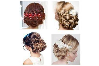 (A03-8# Medium Ash Brown) - BARSDAR hair bun Tray Hair Piece Stretch Hair Comb Clip in for Women Synthetic (Medium Ash Brown-8#)