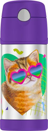 Thermos Cat Funtainer Bottle Thermos Cat Funtainer Bottle Thermos Cat Funtainer Bottle, 1 Each