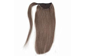(46cm  80g, 9A) - 41cm 46cm 50cm 60cm 60cm Real Human Hair Wrap Around Clip in Ponytail Hair Extensions Remy Human Hair Drawstring Hairpieces (46cm 80g, 9A)