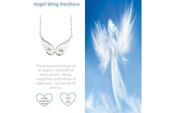 (Angel Wings Necklace - Silver Plated) - 'My Little Guardian Angel' Sterling Silver or Rose Gold or Gold Plated Angel Wing Necklace Braceket Lapel Pin (As chosen) Christening Holy Communion Gift For Girls Boys Women Gift Boxed