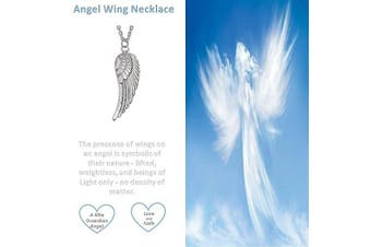 (Angel Wing Necklace - Silver Plated) - 'My Little Guardian Angel' Sterling Silver or Rose Gold or Gold Plated Angel Wing Necklace Braceket Lapel Pin (As chosen) Christening Holy Communion Gift For Girls Boys Women Gift Boxed
