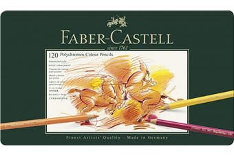 (Tin Of 120, Single) - Faber-Castell 110011 Polychromos Colour Pencils, Tin of all 120 Colours