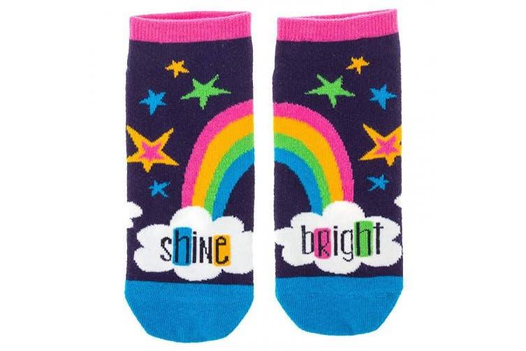 (Rainbow) - Karma Gifts Ankle Socks, Rainbow