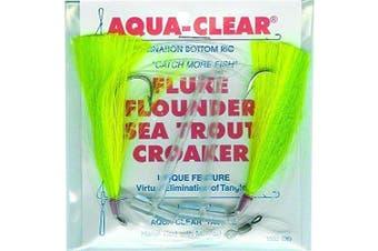 Aqua Clear FW-1FGC Hi/Lo Fluke/Flounder/Trout/Croaker, Green/Chart Hair