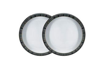 (Jet Stripes) - Denby Jet Stripes 2 Piece Medium Plate Set