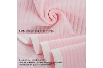 (80cm  x 100cm , Pink Striped) - NTBAY Lightweight Soft Jersey Cotton Toddler Blanket, Breathable and Warm for Boys and Girls Baby Blanket, 80cm x 100cm , Pink